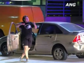 Dancing Woman Taunts Officers After Pursuit Near Downtown Los Angeles
