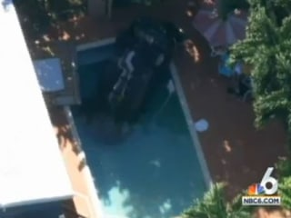 Mom, Kids Pulled from Car After Crash into Miami Pool
