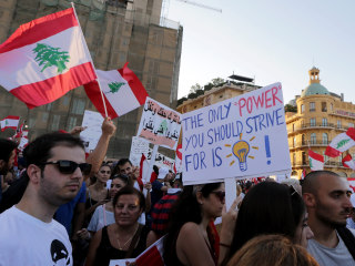 Thousands Rally in Beirut Against Political Leaders, Trash