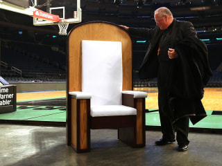 Chair Built for Pope Francis' Mass at Madison Square Garden Is Unveiled
