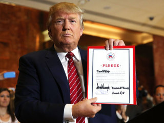 The Lid: The GOP Got Donald Trump's Pledge. So What?