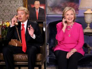 Hillary Clinton Gets the 'Trump' Treatment From Jimmy Fallon