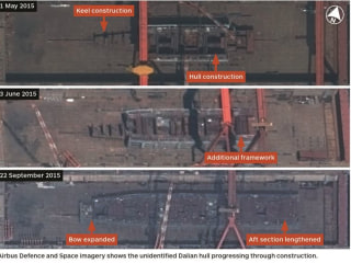 Satellite Images Suggest China Is Building 1st Indigenous Aircraft Carrier