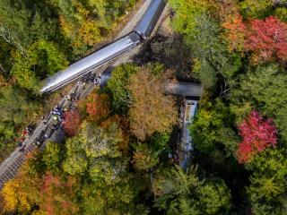 Amtrak Train Derails in Northfield, Vermont