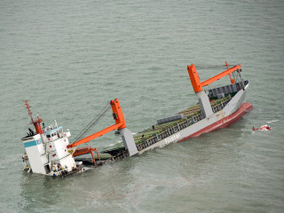Two Ships Collide Off Belgium's Zeebrugge; Crew of 11 Rescued