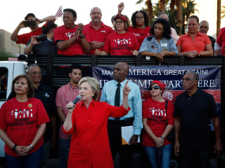 Hillary Clinton Slams Donald Trump on His Doorstep in Las Vegas