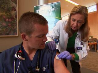 Hospital Beats Flu Vaccine Procrastinators With In-Your-Face Effort