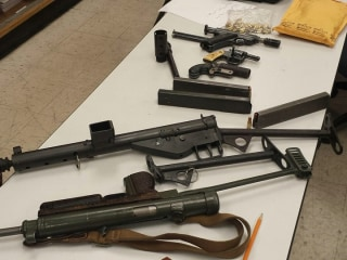 Homeless Felon Had Submachine Guns at L.A.-Area Encampment: Cops