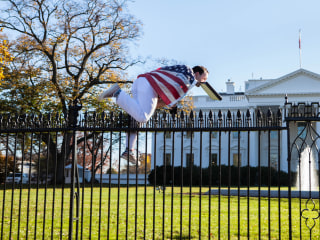 White House on Lockdown After Man Draped in American Flag Jumps Fence