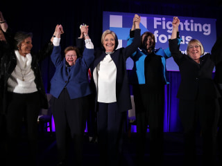 Clinton Basks in Glow of Women Senators — With One Absence