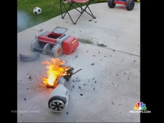 Safety Official Warns Hoverboard Users to Have Fire Extinguisher Handy