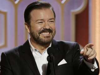 Here's Who Ricky Gervais Went After in His Golden Globes Monologue