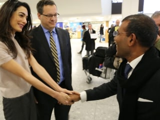 Amal Clooney Welcomes Maldives Ex-President Mohamed Nasheed to London