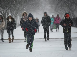 Blizzard Pounds Its Way Up East Coast