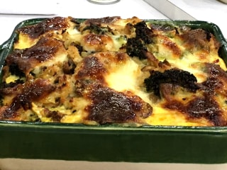 This Broccoli, Mushroom and Egg Strata Is Perfect for Brunch!