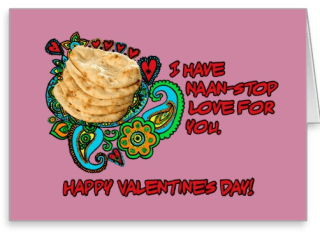 Sketchy Desi's Valentine's Day Cards Send 'Naan-Stop Love'