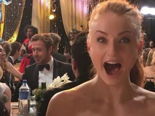 'GoT' Actress Freaks Out Over Ryan Gosling at SAG Awards