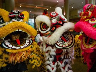 Celebrations, Acrobatics, and Chasing 'Nian': Lion Dancers Prepare for Lunar New Year