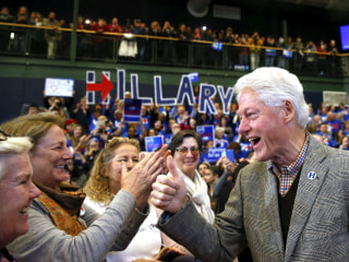 Tales From the Trail: Bill Clinton's 2016 Impact Apparent on the Rope line