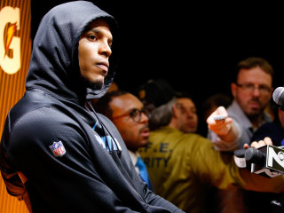 Cam Newton Barely Answers Questions, Walks Out of Postgame Presser