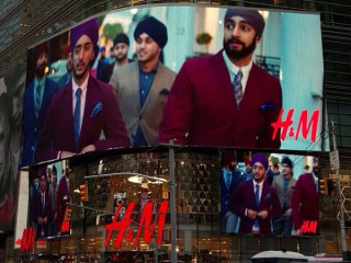 Sikh Models Grace H&M's Times Square Billboard