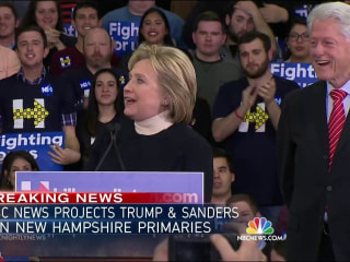 Hillary Clinton Concedes Defeat in New Hampshire Primary