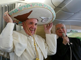 Pope Francis Receives Sombrero Ahead of Mexico Visit