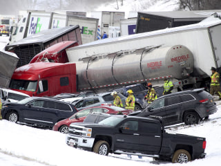 Pileup Involving Dozens of Cars Shuts Pennsylvania Interstate Amid Strong Winds