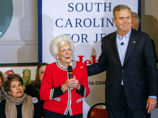 Barbara Bush Hits Campaign Trail With Jeb for Final S.C. Push