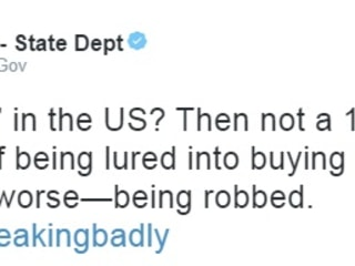 State Department Apologizes for Suggesting Americans Are Ugly