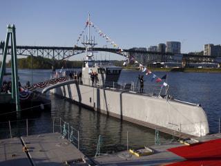 U.S. Military Christens Self-Driving 'Sea Hunter' Warship