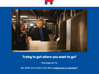 Hillary Clinton's Website Joins in Subway Swipe Joke With '404' Message