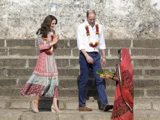 William and Kate Retrace Princess Diana's Steps in India