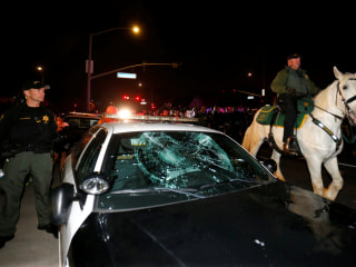 20 Arrested as Crowd Turns Violent Outside Trump Rally in California