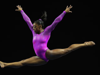 Simone Biles on Getting Nervous Before Routines
