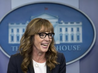 Allison Janney Shows Up at White House Press Briefing as 'The West Wing's' C.J. Cregg
