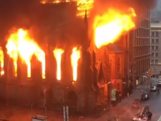 Massive Fire Ravages Historic New York Church