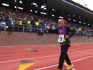 100-Year-Old Runner Sets Record at Penn Relays
