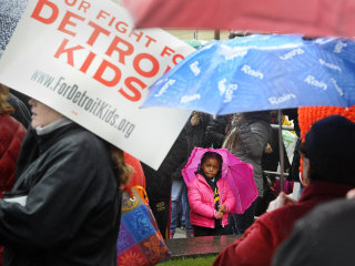 Detroit's Dual Crises Continue: Teacher Sickouts, Water Shutoffs