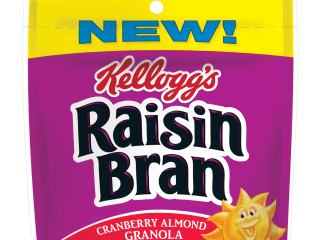 Kellogg's Raisin Bran Now Available as Crunchy Granola Pouches