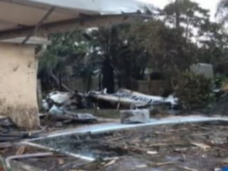 Homeowner 'Lucky' After Plane Crashes Into Backyard