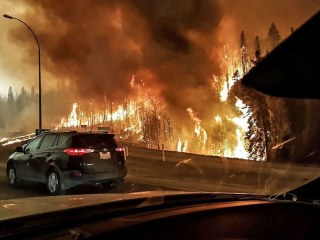 Entire City Flees Raging Wildfire in Canada