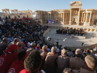 Vladimir Putin's Friend Sergei Roldugin Performs in Palmyra, Syria