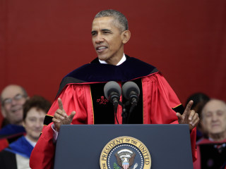 President Obama Attacks Trump's Wall and 'Anti-Intellectualism' in Rutgers Commencement Speech