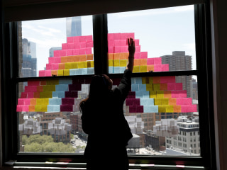 Post-It War Gets Sticky on New York City Office Windows