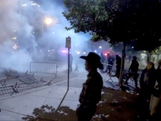 Albuquerque Cops Use Smoke, Horses After Anti-Trump Protests Turn Tense