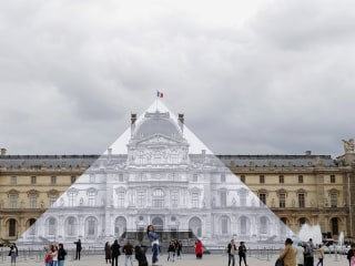 Disappearing Act: Artist Transforms Louvre Pyramid