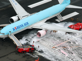 Korean Air Jet Catches Fire at Tokyo's Haneda Airport