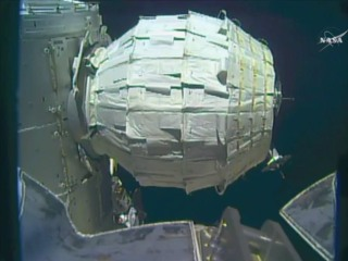 NASA Inflates 1st Expandable Room on International Space Station