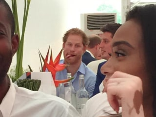 Prince of Photobombs! Harry Puts His Best Face Forward in Audi Polo Pic